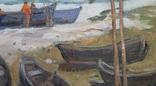 *Подготовка к путине*Х/м, 90*65 Заслуж.худ.Украины Потапенко А.И.1987г, фото №4