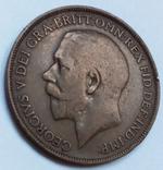 1 пенни 1913 г. Великобритания, фото №2