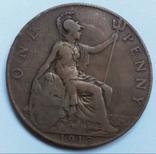 1 пенни 1913 г. Великобритания, фото №3