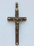 Нательный крест украшен жемчугом, фото №2
