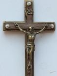 Нательный крест украшен жемчугом, фото №3