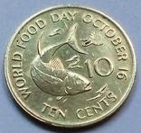 10 центов 1981 г. (юбилейная) Сейшелы, фото №2