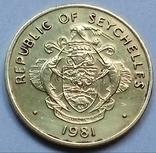 10 центов 1981 г. (юбилейная) Сейшелы, фото №3