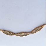 Колье-цепочка золотого цвета с белыми кристаллами. США. 60-е гг., фото №7