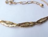 Колье-цепочка золотого цвета с белыми кристаллами. США. 60-е гг., фото №9