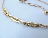 Колье-цепочка золотого цвета с белыми кристаллами. США. 60-е гг., фото №10