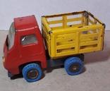 Винтажная железная машинка длина 9 см. Грузовичок СССР 60-70-е годы, фото №3