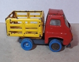 Винтажная железная машинка длина 9 см. Грузовичок СССР 60-70-е годы, фото №4