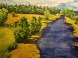 """Акварель """"Река, июль..."""", 33*25см, фото №3"""