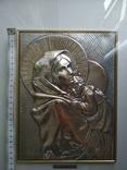Картина мадонна. Серебро 925 пр., фото №9
