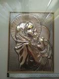 Картина мадонна. Серебро 925 пр., фото №10