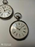 Лот карманных часов,серебро,метал, фото №13