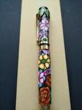 Ручка перьевая ручной работы Цветочная, фото №4