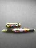 Ручка перьевая ручной работы Цветочная, фото №7