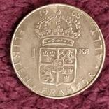 1 крона,1965 г.Швеция, фото №3