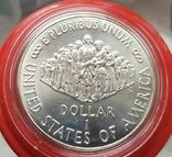 США 1 доллар 1987 г. Серебро. 200-летие конституции США., фото №3