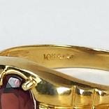 Винтажный золотой перстень с натуральным гранатом, фото №7