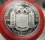 США 1 доллар 1992 г. . Бейсбол. XXV Летние Олимпийские игры 1992 года в Барселоне. Пруф, фото №3