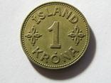 1 крона 1940 Исландия, фото №2