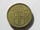 1 крона 1940 Исландия, фото №5