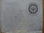 Актовая гербовая бумага 1884 Звенигородский уезд Киевская губерния, фото №4