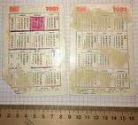 Календарики 1981 г.: герои ХIII Зимней Олимпиады - 1980, фото №6