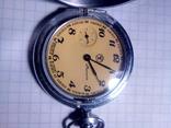 Карманные часы молния желтый циферблат, фото №3