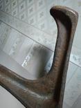 Нога сапожника (Обувная лапа) СССР, 50-е. Чугун (цельное литье), клеймо и номер, 4 кг, фото №5