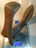Нога сапожника (Обувная лапа) СССР, 50-е. Чугун (цельное литье), клеймо и номер, 4 кг, фото №8