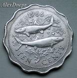 Багамские острова, 10 центов 1966, фото №2