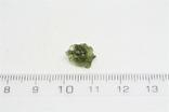 Імпактне тіло, тектит Moldavite, 0,4 грам із сертифікатом автентичності, фото №4