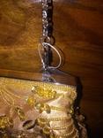 Театральная сумочка. Клатч. Атласная. Вышита бисером и пайетками. Новая., фото №5