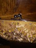 Театральная сумочка. Клатч. Атласная. Вышита бисером и пайетками. Новая., фото №6