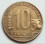 10 сентаво 1949 г. Аргентина, фото №2