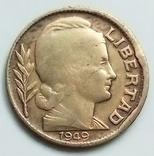 10 сентаво 1949 г. Аргентина, фото №3