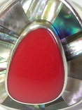 Кольцо и серьги (коралл, перламутр)., фото №12