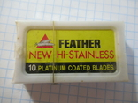 Лезвия Feather New Hi-Stainless, фото №2