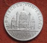 """2 шиллинга 1937 г. Австрия, """"Карлскирхе"""" серебро, фото №3"""