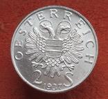 """2 шиллинга 1937 г. Австрия, """"Карлскирхе"""" серебро, фото №6"""