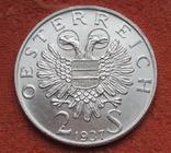 """2 шиллинга 1937 г. Австрия, """"Карлскирхе"""" серебро, фото №9"""