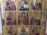 Икона - девятичастник Св.Михаил,обр.Богоматери...., фото №10