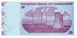 Зимбабве 20 долларов 2009 г UNC, фото №3