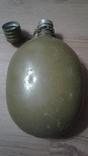Алюминевая фляга 58 года .Оригинельный окрас Цепь крышка и бонус, фото №5