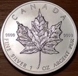 5 долларов 2012г. Елизавета II. Кленовый лист., фото №2