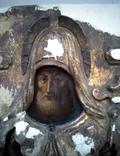 Старинная Икона в деревянном окладе ( Митрофан Воронежский ), фото №4