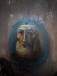 Старинная Икона в деревянном окладе ( Митрофан Воронежский ), фото №8