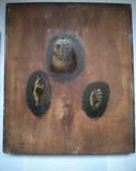 Старинная Икона в деревянном окладе ( Митрофан Воронежский ), фото №9