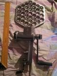 Мясорубка алюминиевая силумин Мотор Сич клеймо пельменница, фото №2
