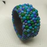 Широкий браслет в сине-бирюзовых тонах (3), фото №2