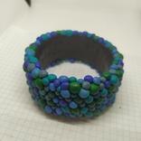 Широкий браслет в сине-бирюзовых тонах (3), фото №5